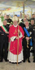Rossano, Capitaneria di Porto e Vigili del Fuoco insieme per festeggiare Santa barbara con l'arcivescovo (2)
