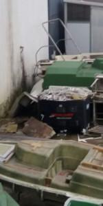 In fiamme il capannone del cantiere navale Ranieri, intervengono 15 unità dei Vigili del fuoco (1)