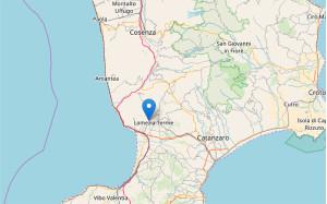 Scossa di Terremoto di magnitudo 3.5 in zona Lamezia Terme