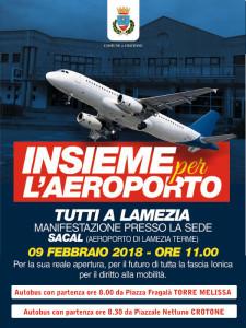 Aeroporto Crotone dal Comune di Melissa un pullman per la manifestazione del 9 febbraio a Lamezia