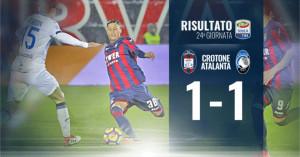 Calcio Seria A, Crotone vs Atalanta 1-1