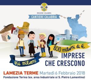 Cantiere Calabria martedì 6 incontro con De Vincenti a Lamezia