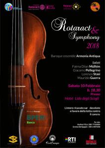 """Concerto di solidarietà """"Rotaract Symphony 2018 Insieme contro il Cancro!"""""""