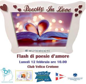 Crotone PoeCity in love, il 12 febbraio alla Carnival race maratona di lettura di poesie d'amore1