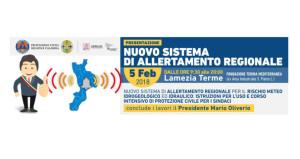 Il 5 febbraio, Presentazione del nuovo sistema di Allerta Meteo regionale