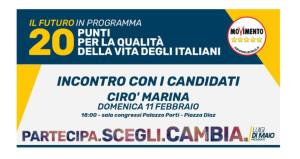 Incontriamoci con i Candidati del Movimento 5 stelle a Cirò Marina