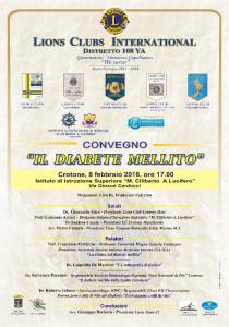 Lions Club Crotone Host Il diabete mellito nella realtà crotonese e della sua Prevenzione e dei stili di vita (1)