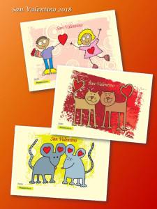 Poste per san valentino cartoline filateliche speciali con un messaggio d'amore