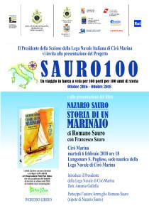 Un viaggio in barca a vela per 100 porti per 100 anni di storia, dal 6 al 8 febbraio farà sosta a Cirò Marina